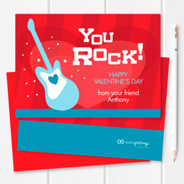 Valentines Cards For Kids | You Rock My World