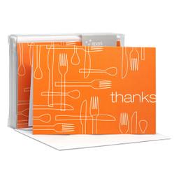 Delicious Thanks Orange Notecards