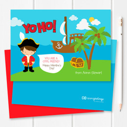 Yo Ho It'S Valentine's Day Kids Valentines Cards