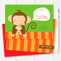 Childrens Valentines Cards | Bananas Over Valentines Card