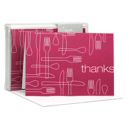Delicious Thanks Fuschia Notecards