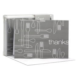 Delicious Thanks Grey Notecards