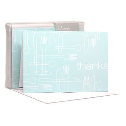 Delicious Thanks Aqua Notecards