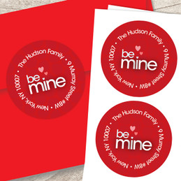 Be Mine Valentines Labels
