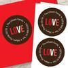 We Love You Valentine Address Labels