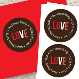 We Love You Valentine Address Labels