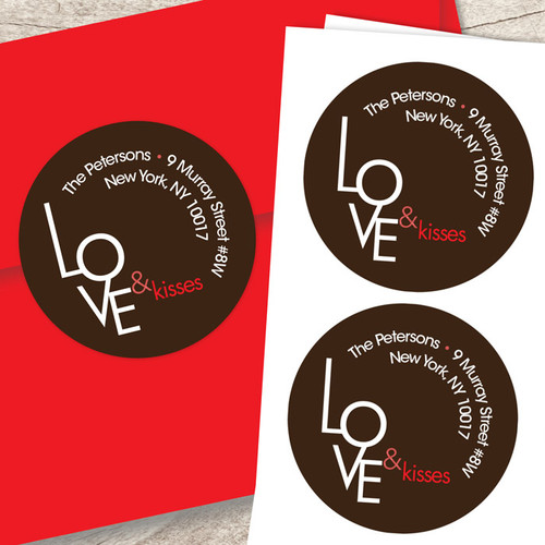 A Modern Valentine Custom Stickers