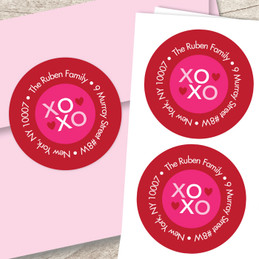 Xoxo Be My Valentine Address Labels