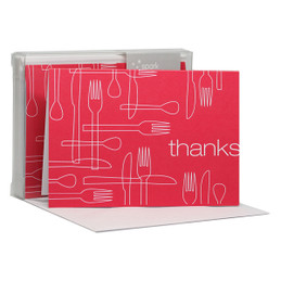 Delicious Thanks Magenta Notecards