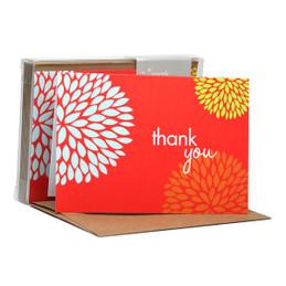 Original Boxed Blank Note Cards | Pom Pom Flowers Red