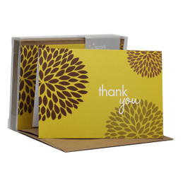 Fantastic Thank You Note Cards | Pom Pom Flowers Yellow