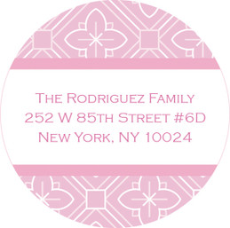 Pink Rosettes Cute Address Labels