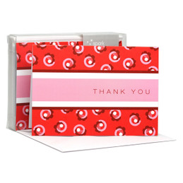 Check Out Our Boxed Note Cards | Flowers On A Swirl Red