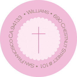 Simple Scallop In Pink Address Return Labels