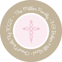 Classic Pink Medallions Cute Address Labels