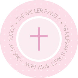 Medallions & Pink Dots Religious Address Labels