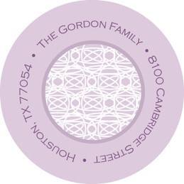 Lace On Lilac Christian Address Labels