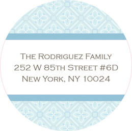 Blue Rosettes Cute Address Labels