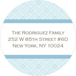 Blue Rosettes Cute Address Labels