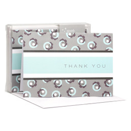 Awesome Boxed Stationery Note Cards | Flowers On A Swirl Grey
