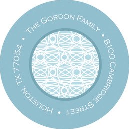 Lace On Blue Christian Address Labels