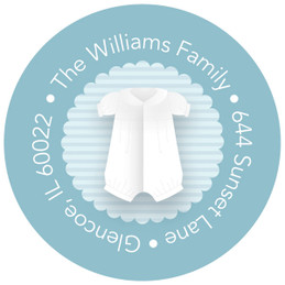 Cute Baptism Gown Christian Address Labels
