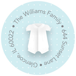 A Baptism Boy Suit Cute Address Labels