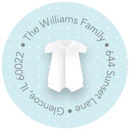 A Baptism Boy Suit Cute Address Labels