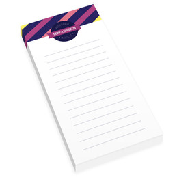 Bold Lines Personalized List Pad
