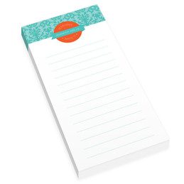 Blue Victorian Ways Personalized List Pad