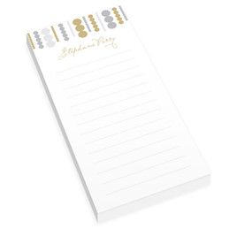 Luxe Circles Personalized List Pad