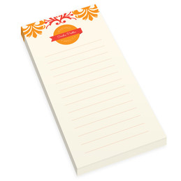 Orange Mood Personalized List Pad