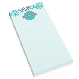 Turquoise Mood Personalized List Pad