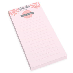 Pink Mood Personalized List Pad