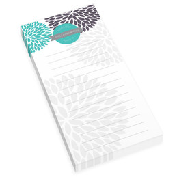 Turquoise And Bold Personalized List Pad