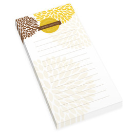 Yellow And Bold Personalized List Pad
