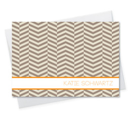 Cute Personalized Folded Note Cards Stationery | Up And Down