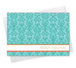 Blue Victorian Ways Notecard