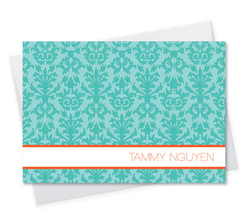 Modern Cool Note Cards   Blue Victorian Ways