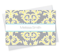 Beautiful Custom Note Cards Folded | Yellow Victorian Ways