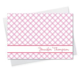 Pink Crisscross Notecard
