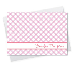 Fantastic Personalized Notecard | Pink Crisscross