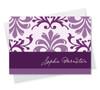 Modern Custom Note Cards | Purple Mood