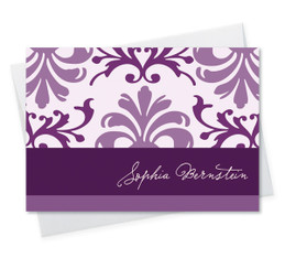 Modern Custom Note Cards | Purple Mood