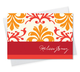 Orange Mood Notecard