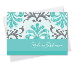 Fantastic Personalized Notecards | Turquoise Mood