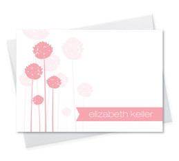 Clear Poms Poms Notecard