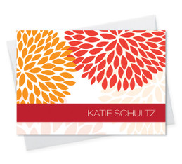 Cute 4 By 6 Notecard | Red And Bold
