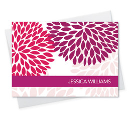 Beautiful Personalized Note Cards With Name | Purple And Bold