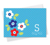 Original Custom Stationery Cards | Light Blue Charming Flowers